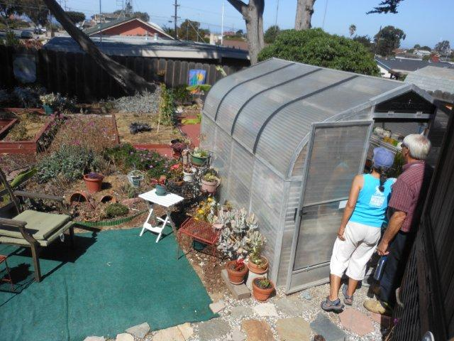 Hot house for vegetable growing